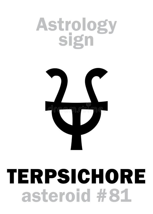 Astrologie: stervormig TERPSICHORE vector illustratie