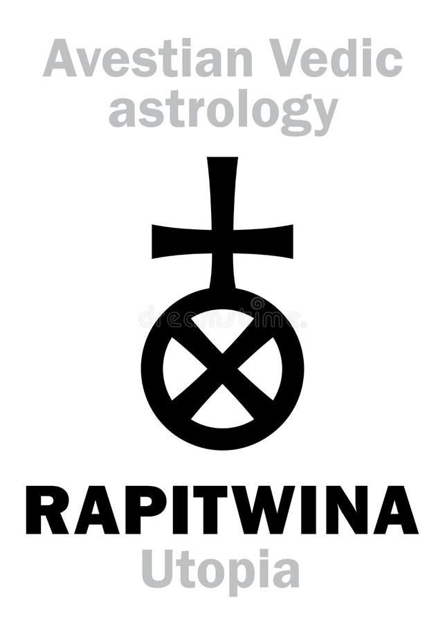 Astrologie: stervormige planeet RAPITWINA Utopie stock illustratie
