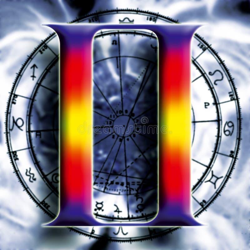 Download Astrologie: Tweeling stock illustratie. Illustratie bestaande uit symbool - 295749