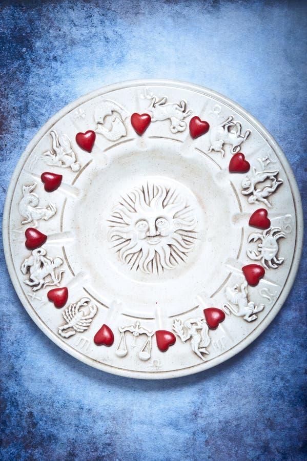 Astrologie und Liebe lizenzfreie stockfotos