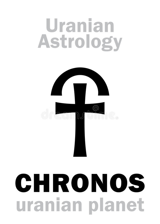 Astrologie: Uranian Planet CHRONOS vektor abbildung