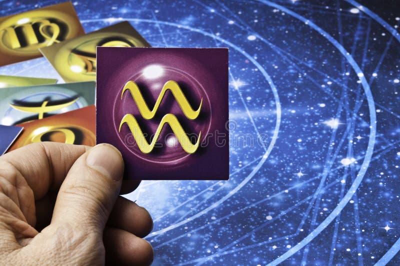 Astrologie-Wassermann stockbilder