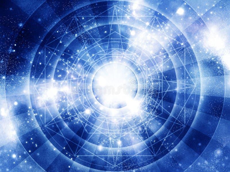 Astrologiehoroskophintergrund stockfotografie