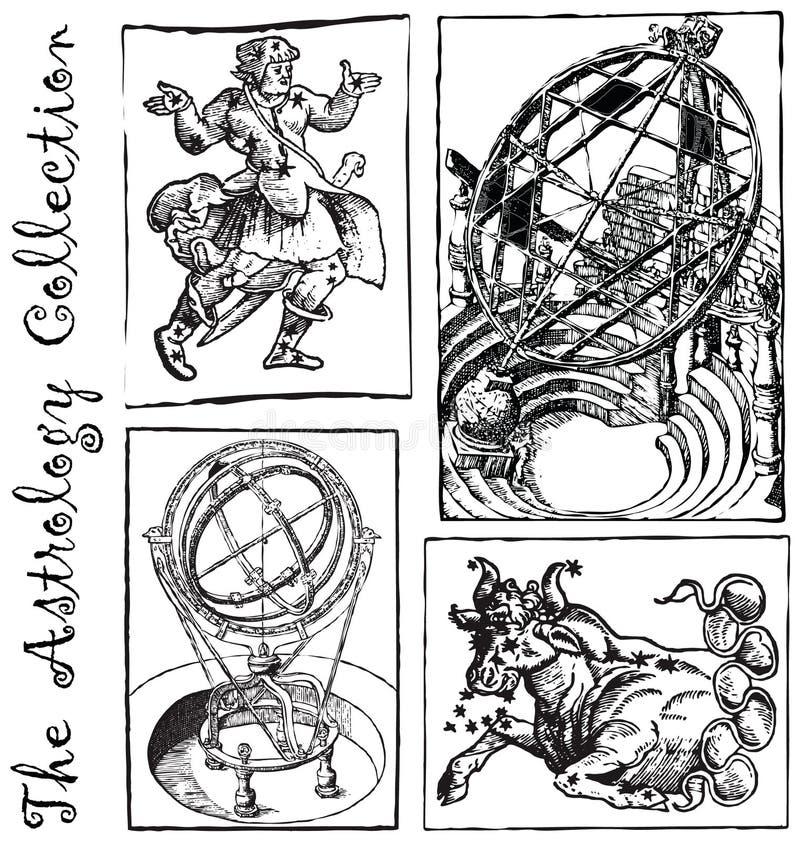 Astrologieinzameling 1 vector illustratie