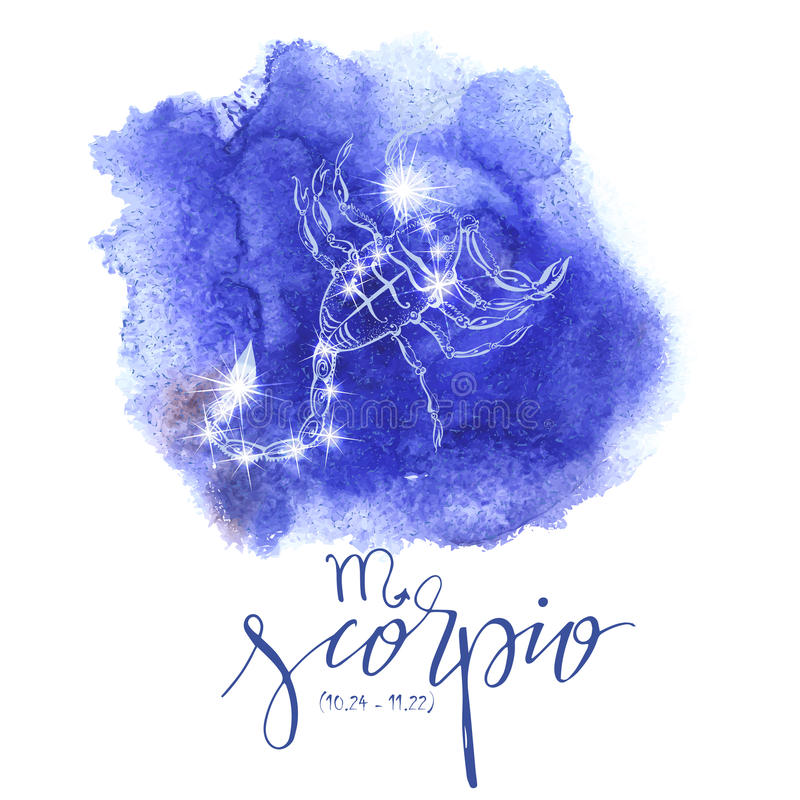 Astrologieteken Schorpioen stock illustratie