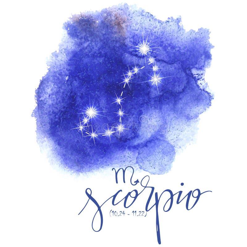 Astrologieteken Schorpioen vector illustratie