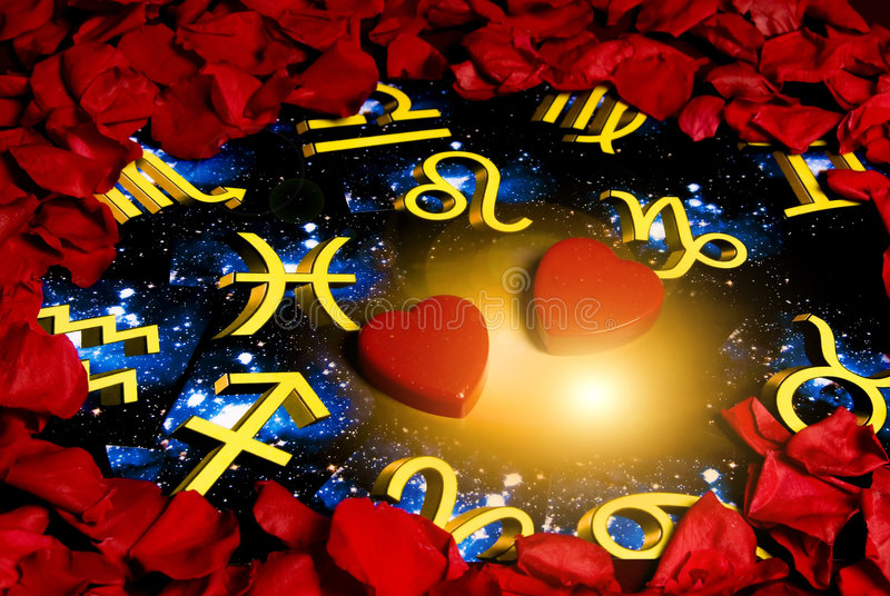 astrologiförälskelse arkivfoto
