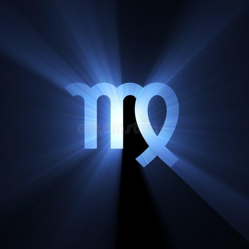 astrologii aureolę przestrzeni symbolu virgo obrazy stock
