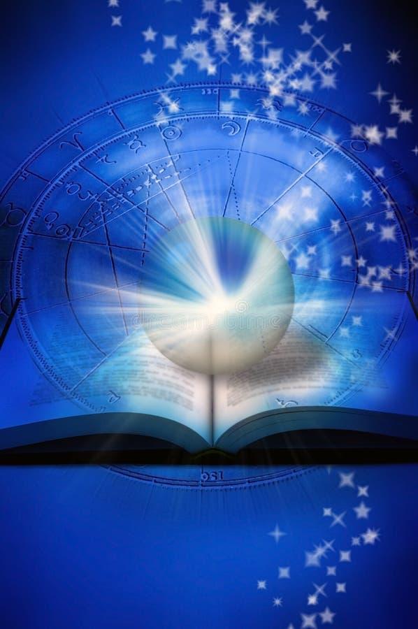 astrologii czytanie ilustracja wektor