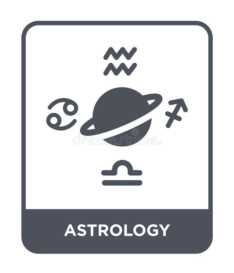 astrologii ikona w modnym projekta stylu astrologii ikona odizolowywająca na białym tle astrologii wektorowej ikony prosty i nowo royalty ilustracja