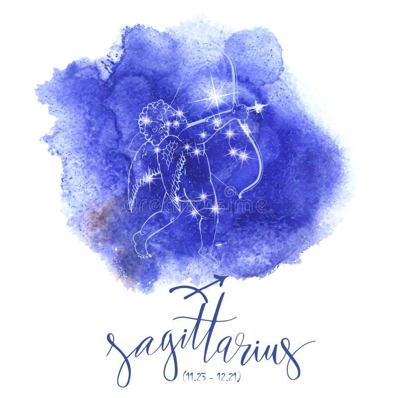 Astrologii szyldowy Sagittarius ilustracji