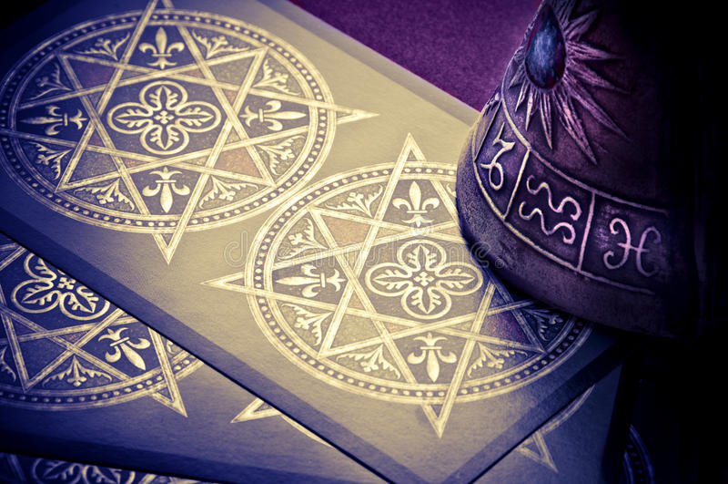astrologii tarots obraz royalty free
