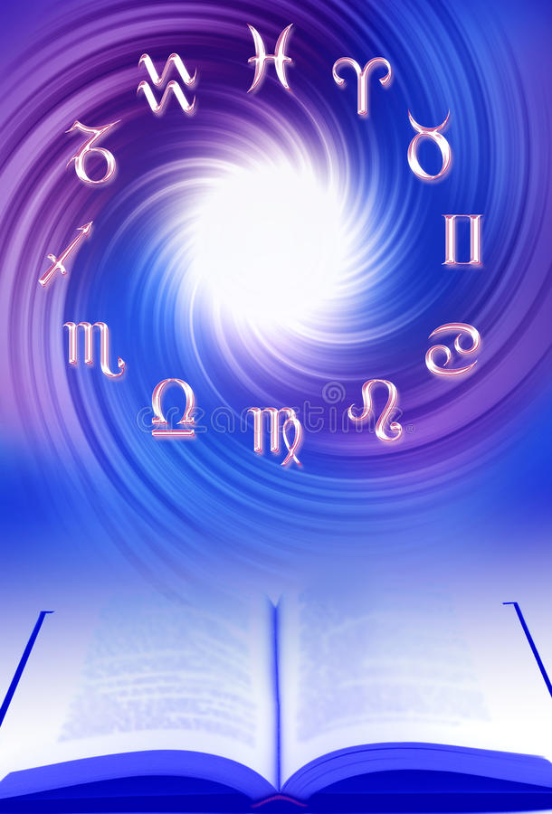 astrologikurs royaltyfri illustrationer