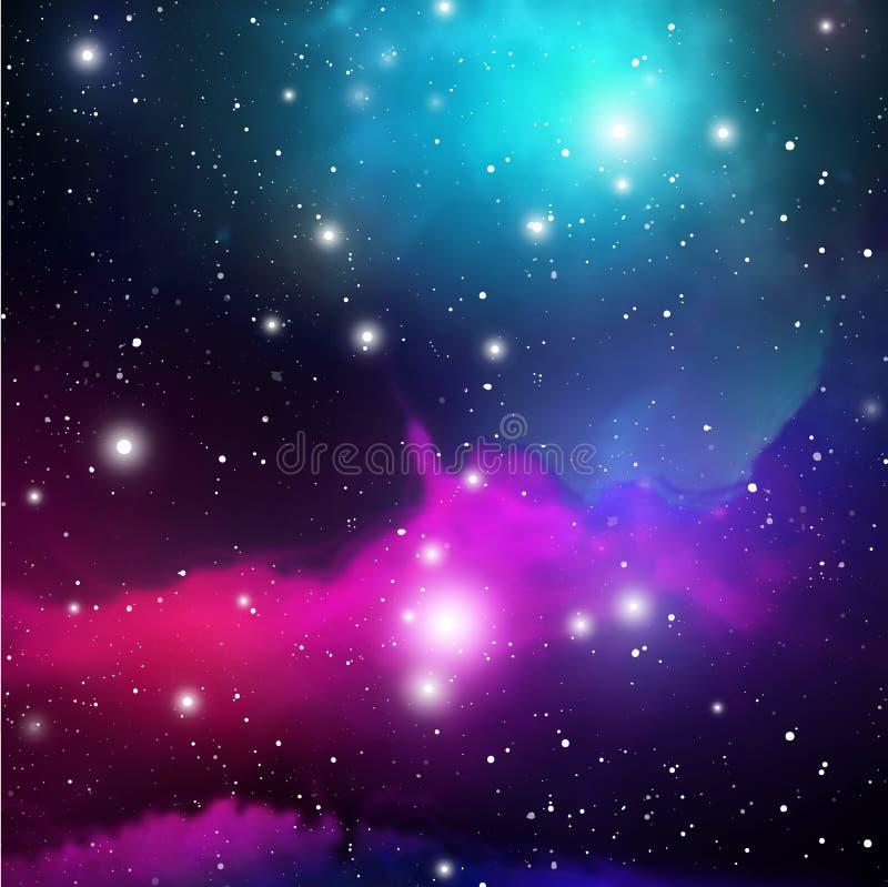 Astrologimystikerbakgrund abstrakt begrepp mot avstånd för stående för bakgrundskvinnlig ytterkant VektorDigital illustration av  vektor illustrationer