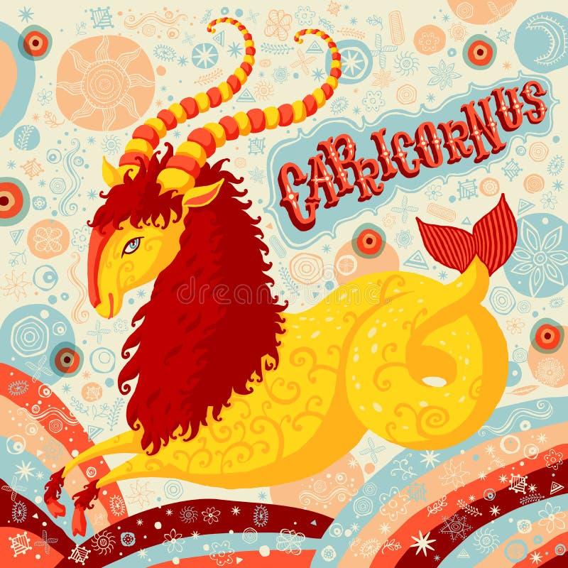 Astrologisch dierenriemteken Steenbok Een deel van een reeks horoscooptekens stock illustratie