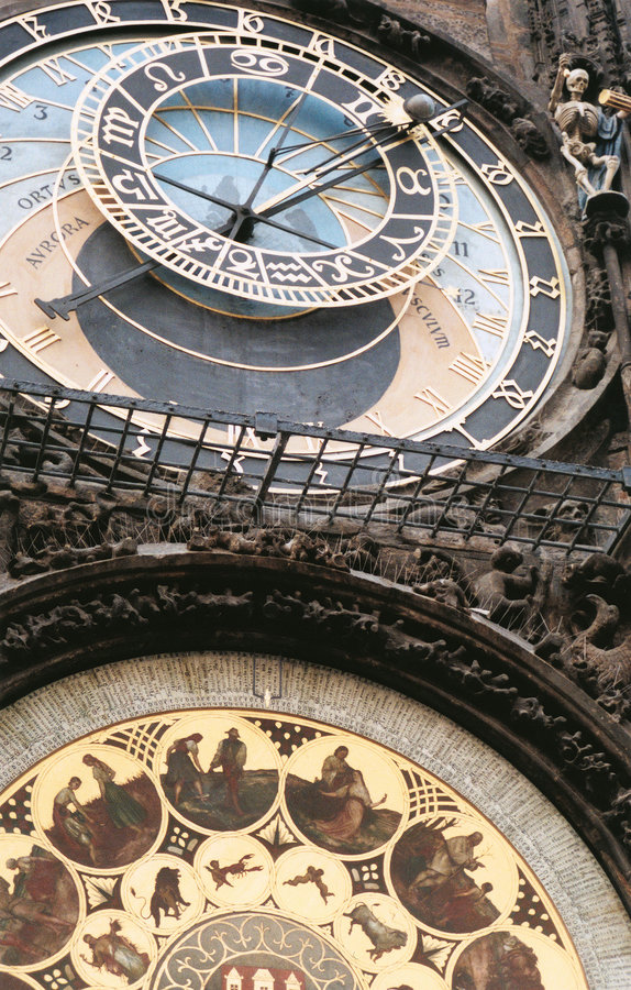 Astrologische Borduhr - Prag lizenzfreie stockfotos