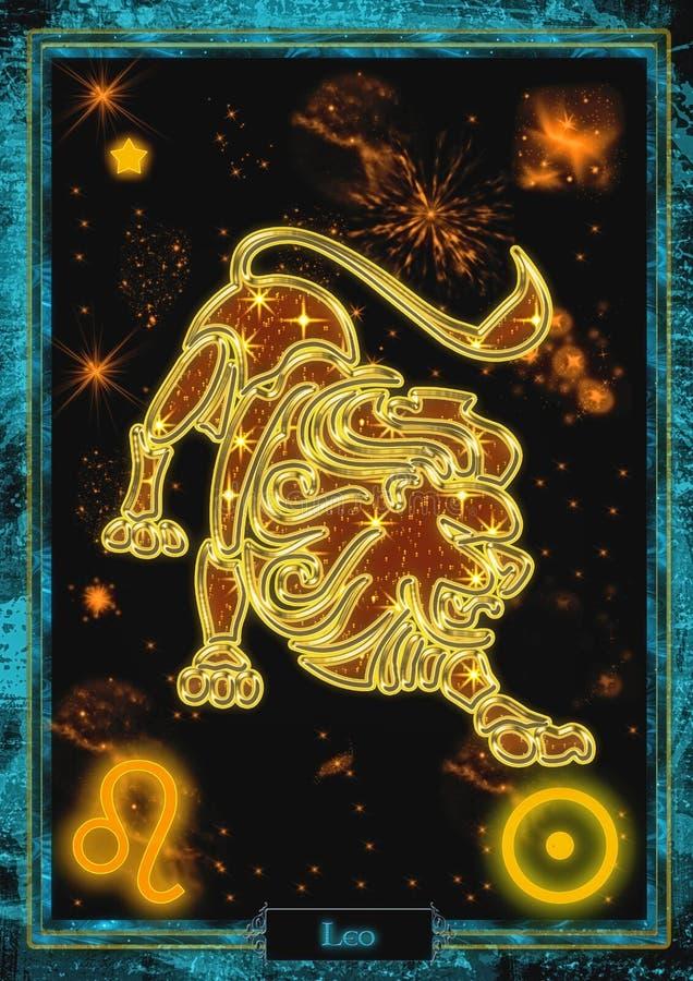 Astrologische Illustration: Löwe stockfoto