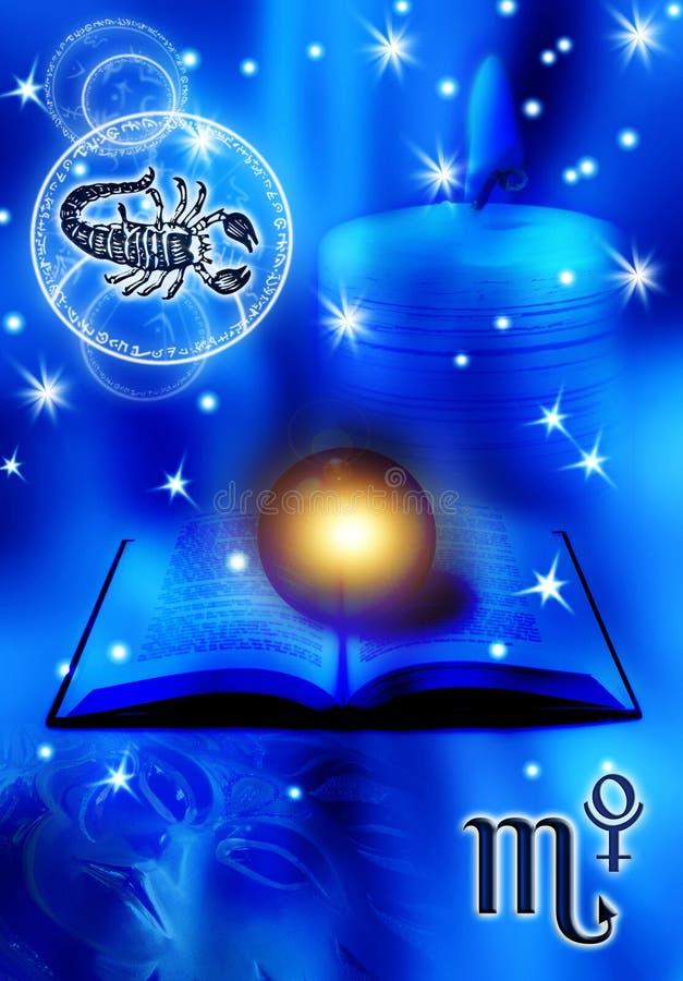Astrologische tekenSchorpioen royalty-vrije illustratie