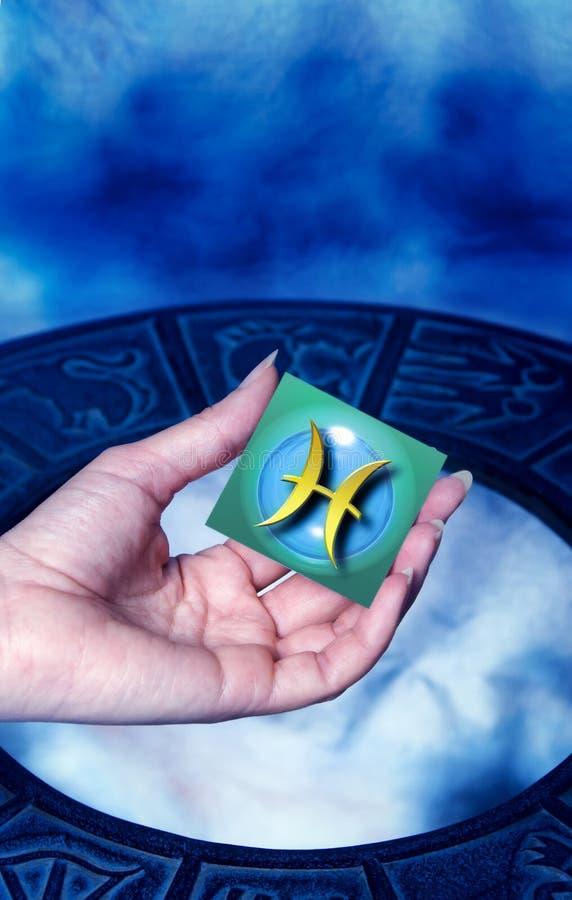 Astrologische tekenVissen stock afbeeldingen
