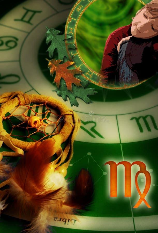 Astrologische Zeichen Jungfrau lizenzfreie abbildung