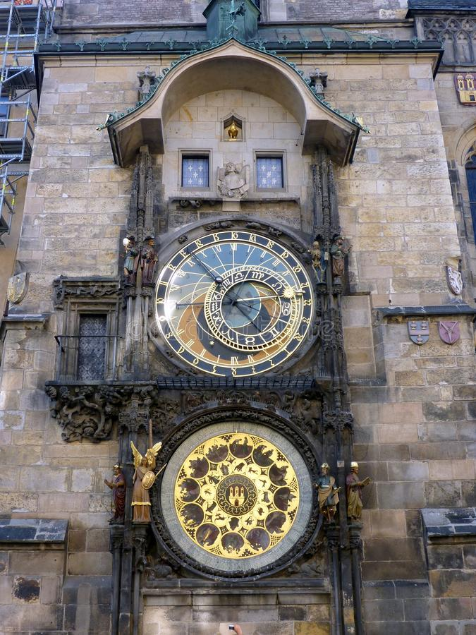 Astrologischer Glockenturm, altes Turm-Quadrat, Prag, Tschechische Republik stockfoto