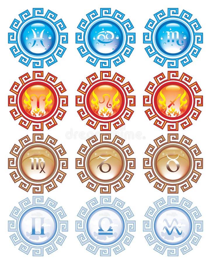 astrologiska tecken royaltyfri bild