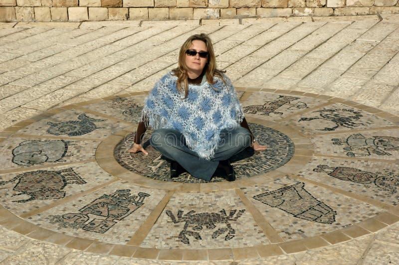 astrologiskt hjul royaltyfria bilder