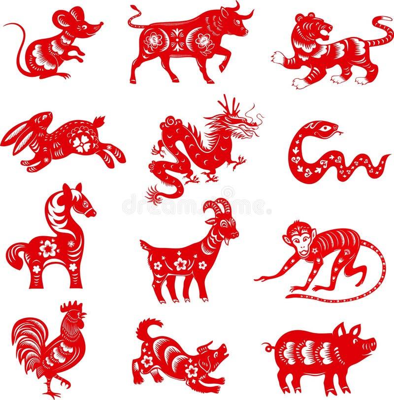 12 astrologisymboler royaltyfri illustrationer
