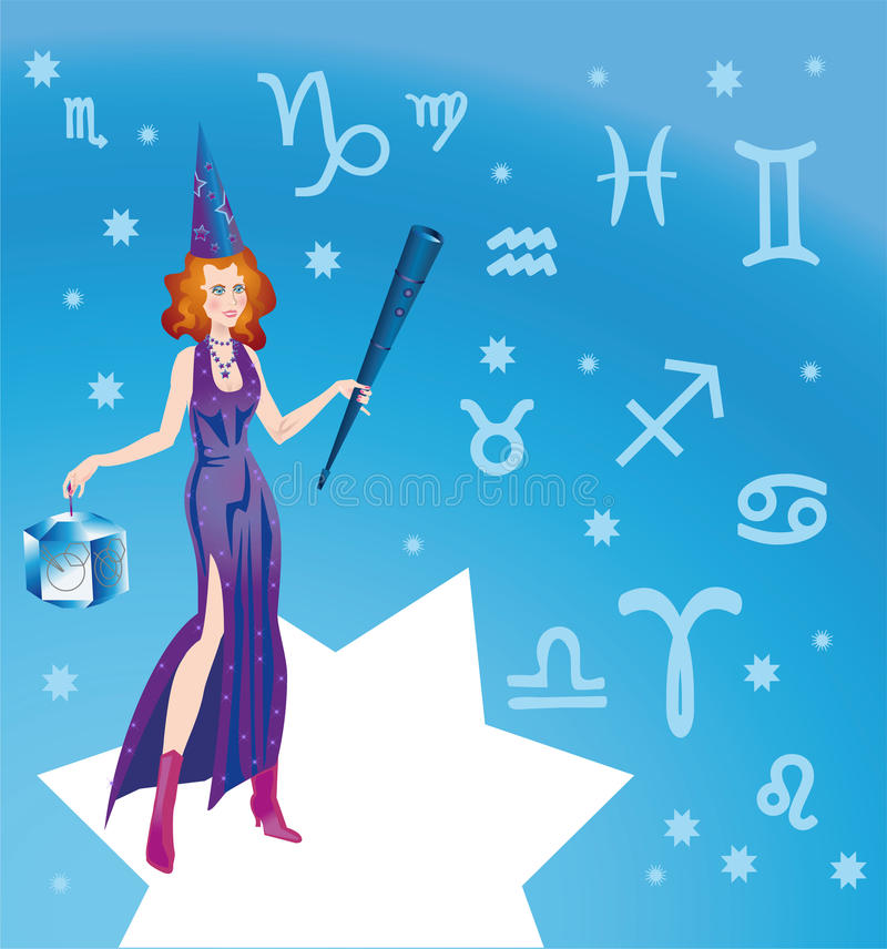 Astrologue illustration stock