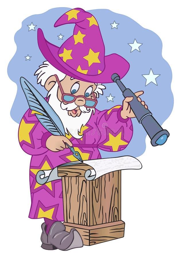 astrologue illustration de vecteur