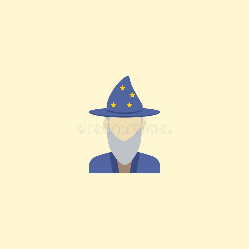Astrologue plat Element d'icône Illustration de vecteur de la prédiction plate d'icône d'isolement illustration libre de droits