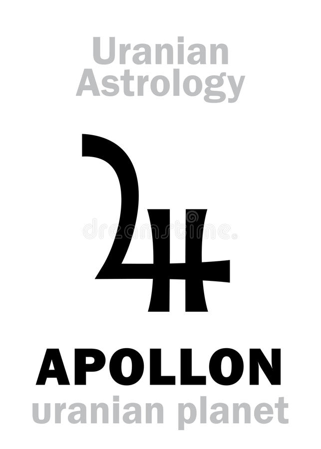 Astrology: APOLLON (uranian planet) vector illustration