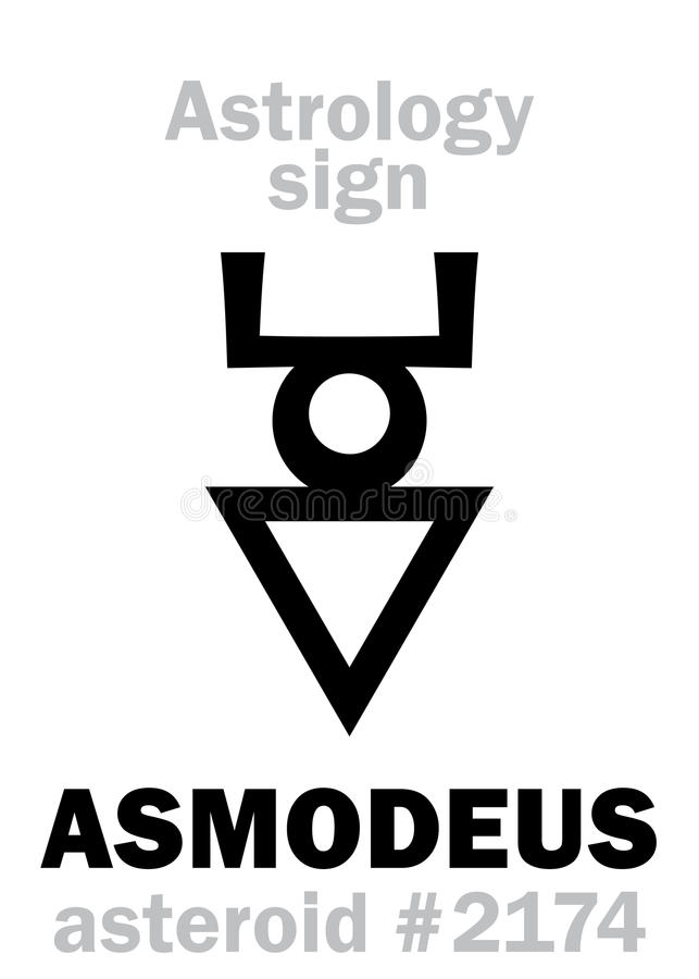 Astrology: EVIL MOON (Devil Moon) Stock Vector