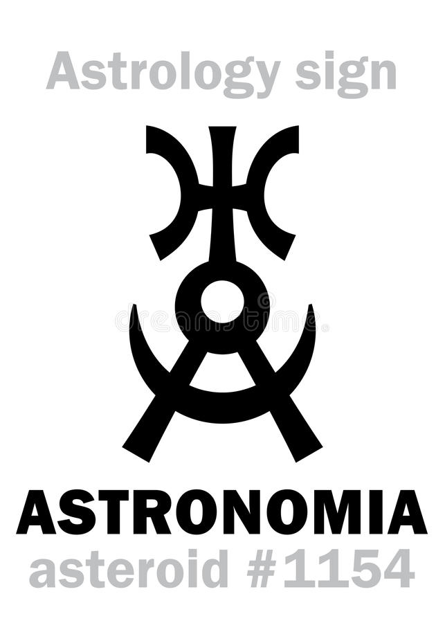 Astrology: asteroid ASTRONOMIA royalty free illustration