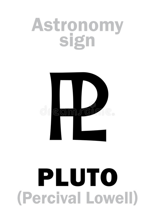 Astrology Astronomical Sign Of Pluto Stock Image Image Of
