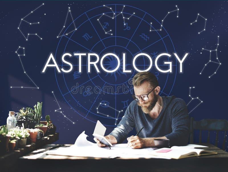 Astrology Comet Constellation Fantasy Galaxy Concept stock photos