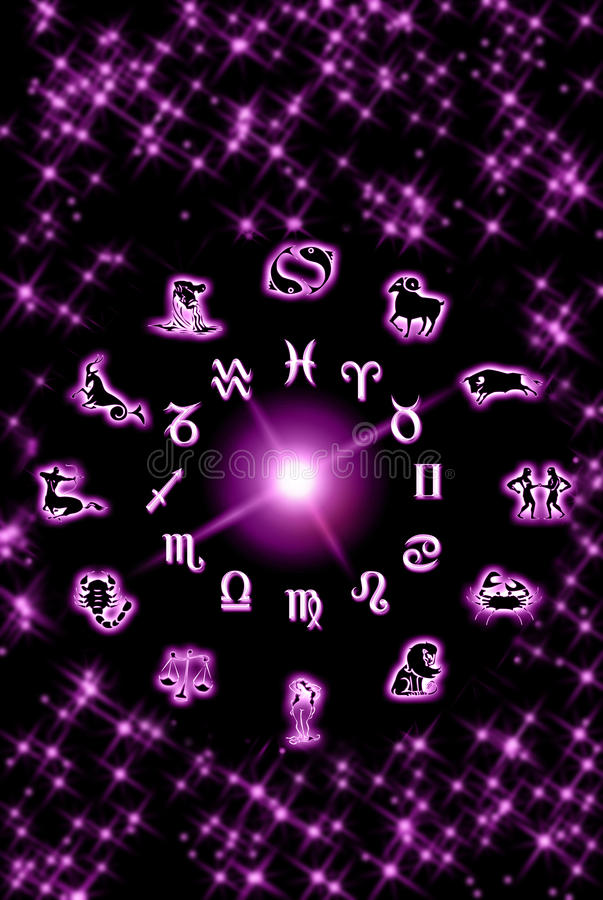 Astrology in pink stock photography