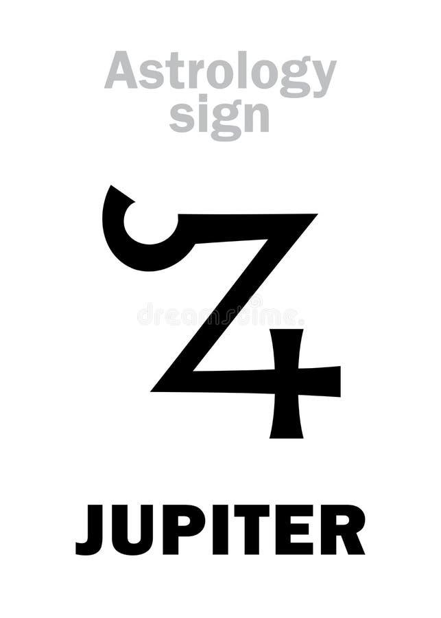 Astrology Planet Jupiter Stock Vector Illustration Of Horoscope