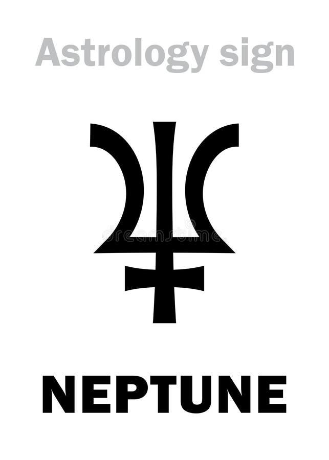 Astrology Planet Neptune Stock Vector Illustration Of Astronomy