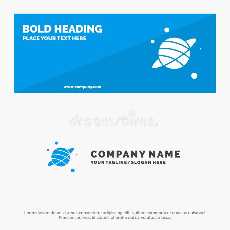Astrology, Planet, Space SOlid Icon Website Banner and Business Logo Template royalty free illustration