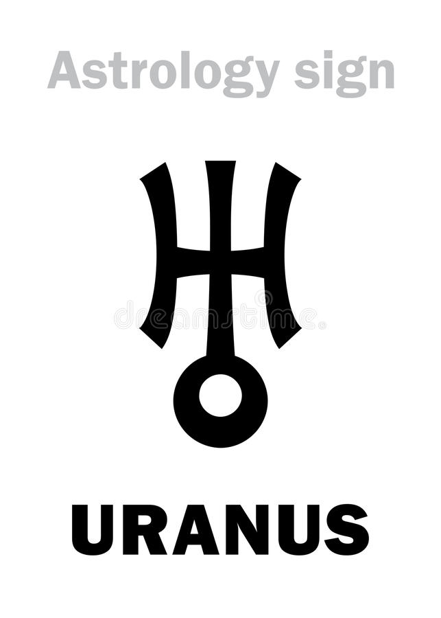 Astrology Planet Uranus Stock Vector Illustration Of Empyrean
