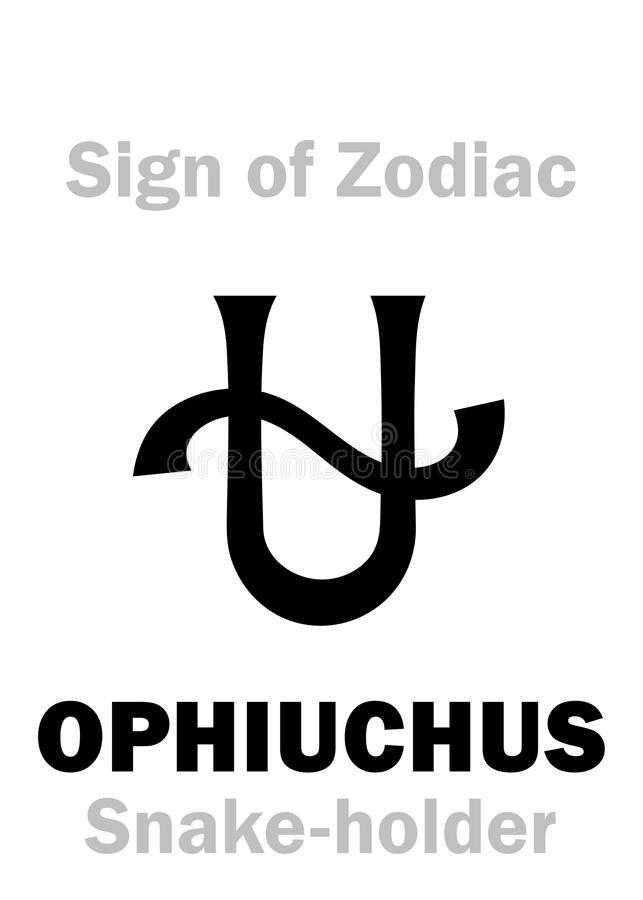 Astrology: Sign of Zodiac OPHIUCHUS (The Snake-holder) royalty free illustration