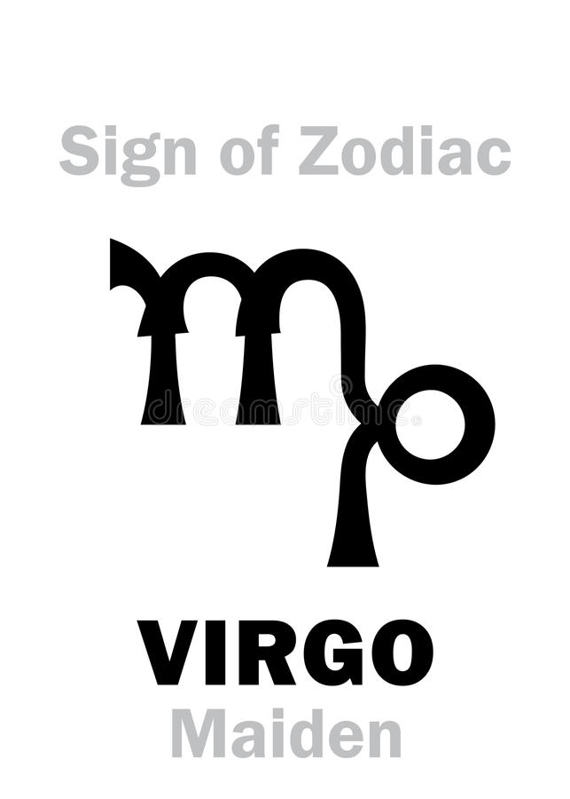 Astrology: Sign of Zodiac VIRGO (The Maiden) royalty free illustration
