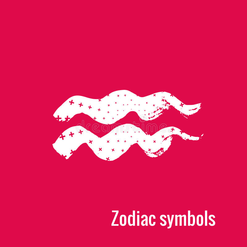 Astrology Signs Of The Zodiac Aquarius Stock Vector Illustration