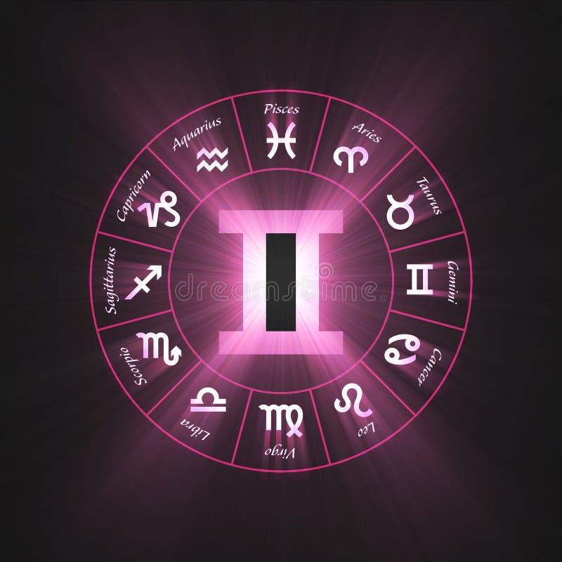 Download Astrology Symbol Gemini Light Flare Stock Illustration - Image: 7947062
