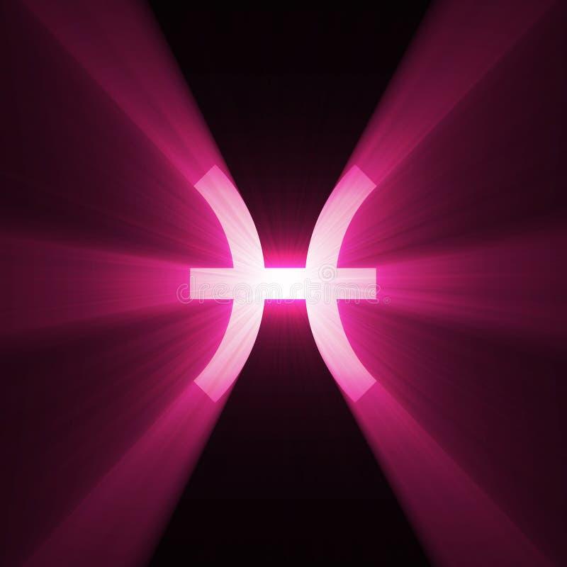 Astrology symbol Pisces light flare royalty free illustration