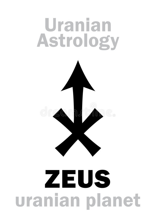 Astrology: ZEUS (uranian planet) stock illustration