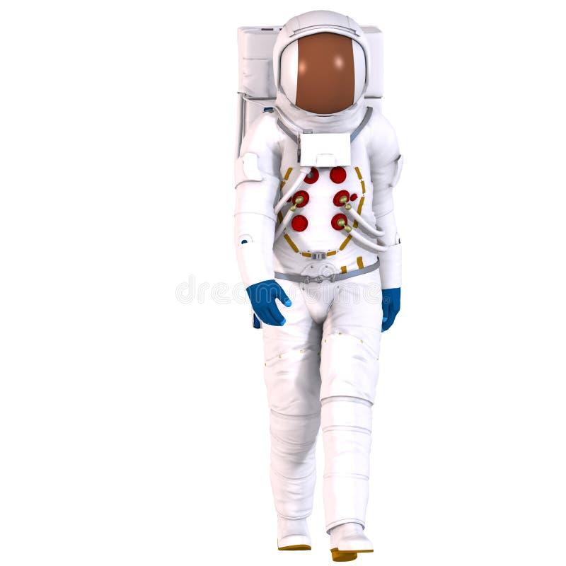 astronauci 3 d ilustracja wektor