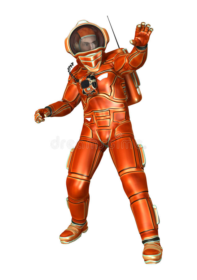 Download Astronauci ilustracji. Ilustracja złożonej z jeden, kostium - 57650440