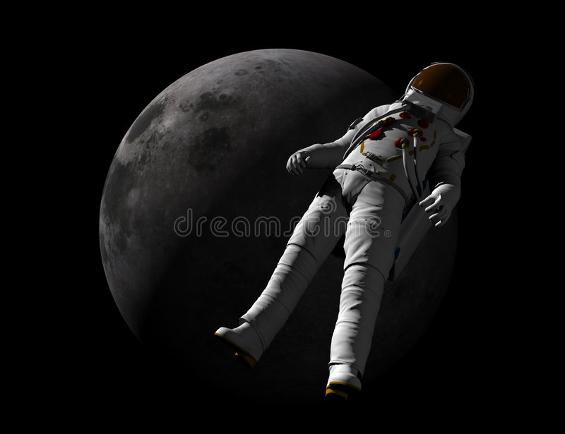 astronauci na księżyc royalty ilustracja